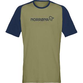 Norrøna Fjørå Equaliser Lightweight T-Shirt Herren olive drab/indigo